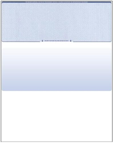 - Business Voucher Check Stock - 1000 Sheets, Check on Top, Blue Diamond