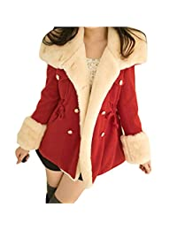 Gillberry Winter Warm Double Breasted Blend Jacket Women Coat Outwear