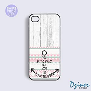 iPhone 4 4s Tough Case - Wood Anchore Quote Design iPhone Cover