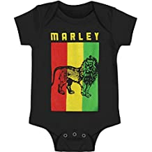 Bob Marley Bodysuit Lion Flag Unisex Baby Romper