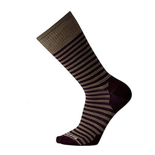 Smartwool  Men's Stria Crew Bordeaux Sock (Smartwool Ultralight Socks)