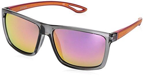 Body Glove Women's Bombara Polarized Wrap Sunglasses, Shiny Grey and Pink, 58 - Glove Polarized Body Sunglasses