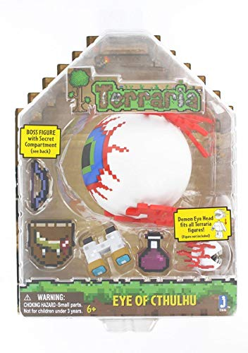 Terraria Deluxe Boss Pack: Eye of Cthulhu Boss Action Figure with Accessories