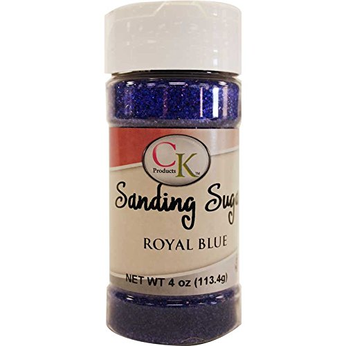 CK Products 78-505E Cake Decorating Sanding Sugar Bottle, 4 oz, Royal Blue