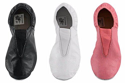 Trampolining Genuine Dancing Leather Shoes Training White DERCONA Gymnastic tBpww