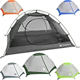 Hyke & Byke Yosemite 2 Person Backpacking Tent with Footprint - Lightweight Two Door Ultralight Dome Camping Tent