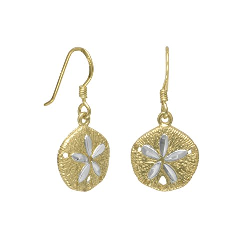 Bunnyberry 14 Karat Gold Plated Sand Dollar French Wire Earrings