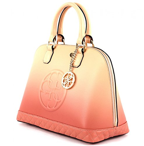 GUESS Amy Dome Satchel Rose Multi