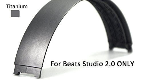 Replacement Top Headband Pad Cushions Repair Parts for Beats Studio 2.0 Wired / Wireless Over Ear Headphone (Titanium)