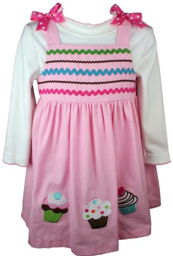 Rare Too! Cupcake Corduroy Jumper and Top Set-2 Toddler