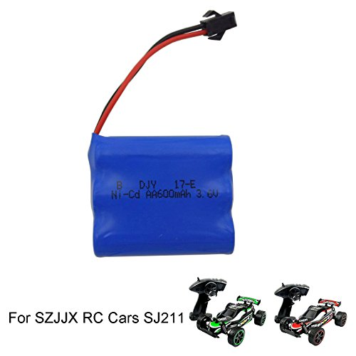 SZJJX RC Car Rechargeable Battery 3.7V 500mAh High Capacity Battery Pack for SZJJX RC Cars Rock Off-Road 2.4Ghz 2WD 1:20 Radio Remote Control Racing Cars Hobby Car (Fast Radio)