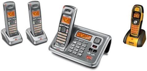 Uniden DECT 2085-4WX - Sistema de teléfono inalámbrico con 4 auriculares (1 impermeable) y sistema de contestar digital: Amazon.es: Electrónica