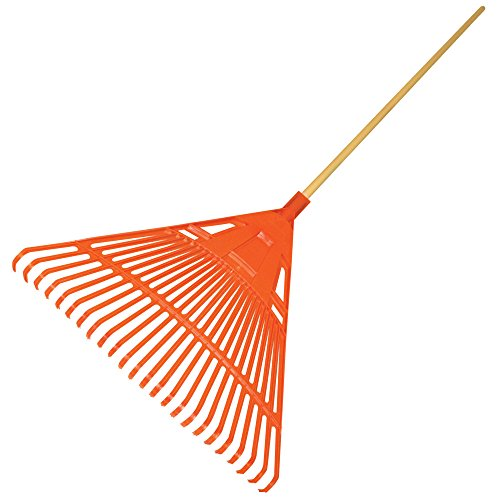 A.M. Leonard Poly Lawn Rake - 23 Inches/24 Tines, 54 Inch Wood Handle