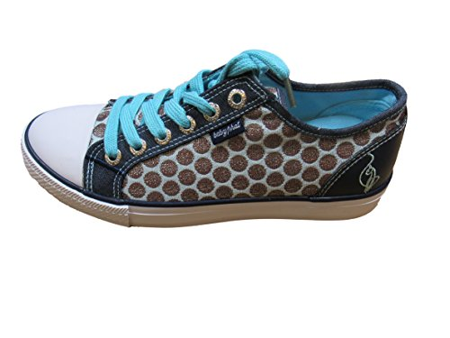 Baby Phat Womans Polka-Dot Fashion Sneaker Blue/Navy inUPxWrC