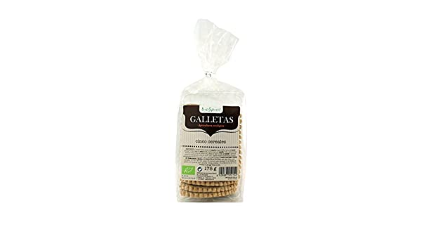Biospirit Galletas de Cinco Cereales de Cultivo Ecológico - 175 gr ...