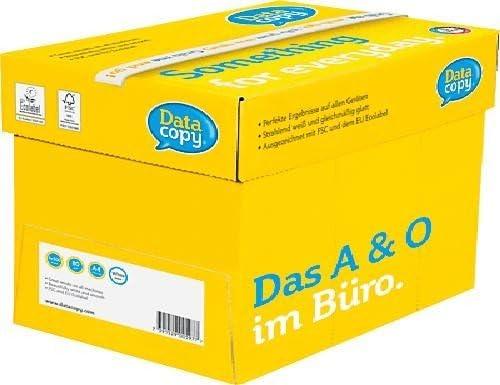 Data Copy 4592 - Papel para impresora (80 g/m², A4, caja de 5 paquetes de 500 hojas), color blanco: Amazon.es: Oficina y papelería