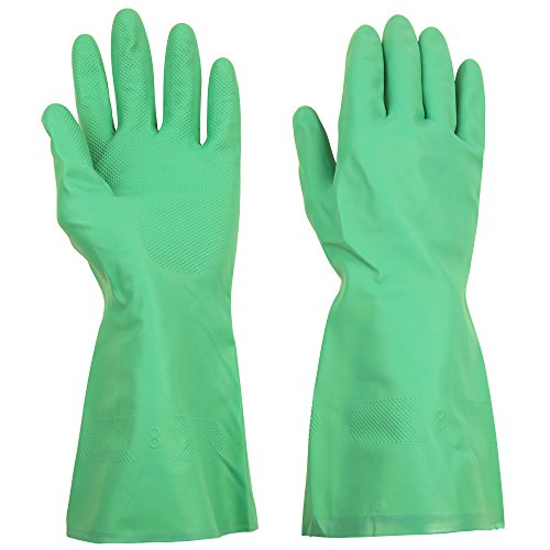 ThxToms Nitrile Chemical Gloves, Resist Household Acid, Alkali and Solvent, Latex Rubber Free, 1 Pair Extra Large