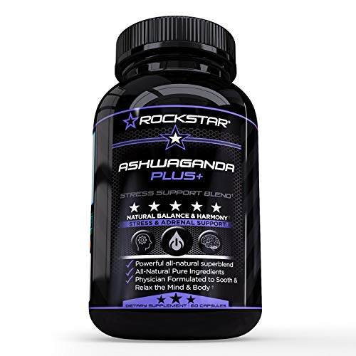 Rockstar Premium Ashwagandha Extract Formula- Natural Stress Support & Mood Enhancer – with Artichoke and Enhanced Benefits – Energy, Focus, Digestion, Clease, and More by Rockstar