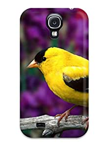 Galaxy S4 FvANJsD5630xFTVR Male American Goldfinch Tpu Silicone Gel Case Cover. Fits Galaxy S4