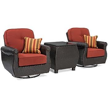 ff6985eca7e La-Z-Boy Outdoor Breckenridge 3 Piece Resin Wicker Patio Furniture Set ( Brick