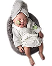 Vemonllas Newborn Boy Girl Baby Photography Props Bathrobe Turban Belt Coat Sets