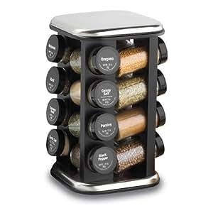 Kamenstein Revolving Spice Rack with 16 Filled Jars