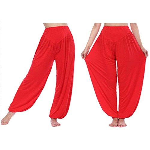 Primaverile Pantaloni Yoga Pantaloni Baggy Multistrato Estivi Moda Eleganti Moda Sportivi Harem Di Monocromo Casuale Battercake Donna Grazioso Pantaloni Nahen Rot Donne Trousers Pantaloni Taille Lunga aq0ZwY