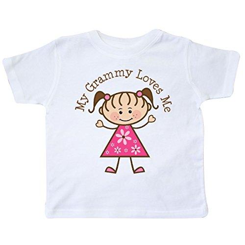 inktastic - My Grammy Loves Me Toddler T-Shirt 4T White 19097