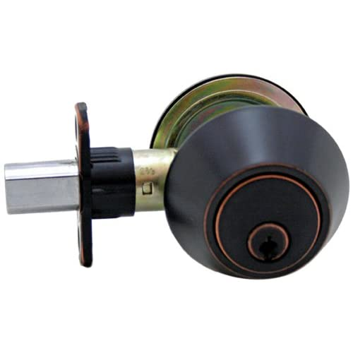 80%OFF Lewis Hyman 1735095 Atlas Single Cylinder Dead bolt, Oil Rubbed Bronze