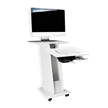 ZR Mesa de Pared- Carro Portátil para Escritorio con Soporte para Computadora Portátil con Tablero