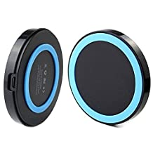 Qi Wireless Charging Pad Charger Power Pad for iPhone 4 4S 5 Samsung S3 S4 S5 S6 Nokia Nexus Blue