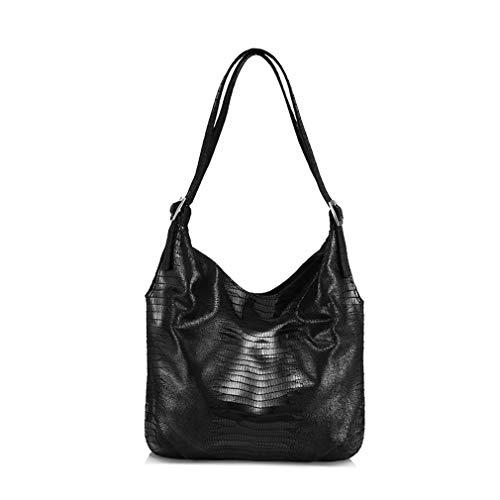 Leather Bags for Women Handbag Hobos Tote Bag Black one Size