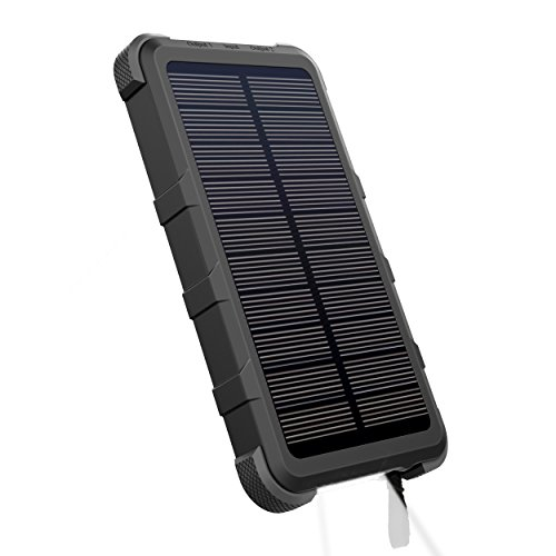 OUTXE 10000mAh Rugged Solar Power Bank with Flashlight IP67 Waterproof Portable Charger Outdoor by OUTXE