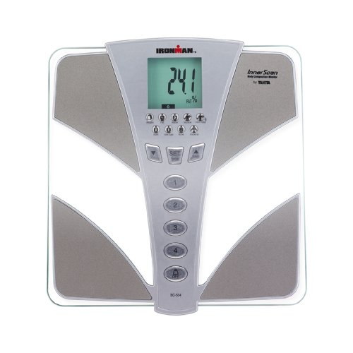 Tanita Body Composition Analyzer - Tanita BC554 Ironman Glass InnerScan Body Composition Monitor Elite Series