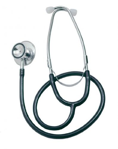Doppelkopf Stethoskop in schwarz