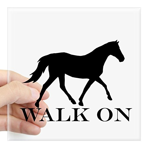 CafePress - Walk On Tennessee Walker Hoodie Sticker - Square Bumper Sticker Car Decal, 3