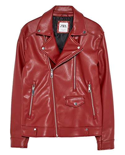 Used, Zara Men Faux Leather Biker Jacket 1966/400 (Small) for sale  Delivered anywhere in USA