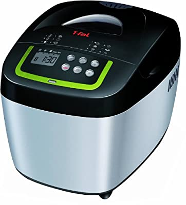 T-fal PF111 Balanced Living Programmable Automatic Bread machine Stainless Steel Housing Nonstick Coating, 600-watt, Stainless Steel