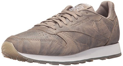 Reebok Men's CL Leather CTE Fashion Sneaker, Sandstone/White, 12 M US