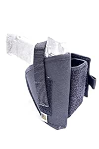 Outbags OB-30ANK (RIGHT) Nylon Neoprene Ankle Holster for Glock 26 / 27 / 29 / 30 / 40, Ruger SR9C / SR40C, S&W M&P Compact, Taurus Millennium PT58 / PT132 / PT138 / PT140 / PT145 / PT609 / PT638 / PT709 Slim / PT740 / PT745, Ruger LC9 and SR22 with Crimson Trace, Kahr CW9 / CW40 / CW45, Walther P22 Compact / P99 Compact