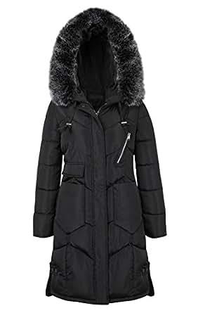 Amazon.com: frawirshau Women's Winter Coats with Fur Hood