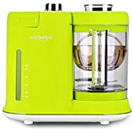 Baby Food Maker, 4 in 1 Steam Cooker and Blender Processor, 4.7 Cups BPA Free PPSU Material Tritan, Baby Food Grinder, Chop, Sterilizer, Deforest, Clean Function Auto Shut-Off One Key Operation Best for Toddlers and Infants