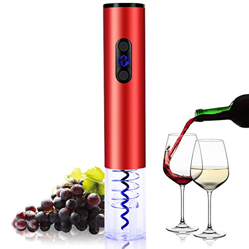 2016 Newly Designed Model Stainless Steel OxGord Electric Wine Opener with Automatic Corkscrew and Foil Remover for Bottles