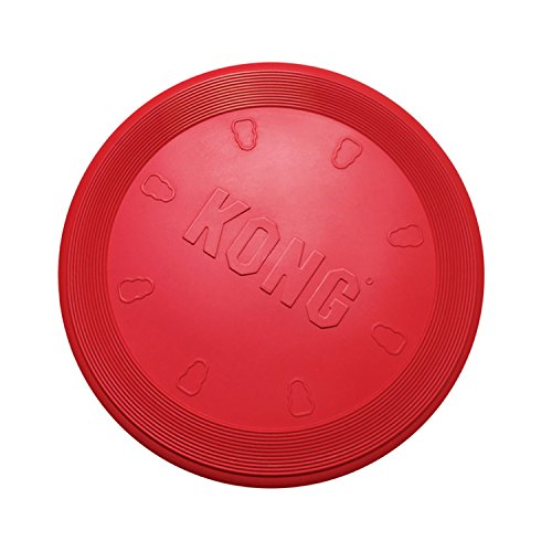 KONG - Flyer - Durable Rubber Flying Disc Dog Toy - For Small Dogs