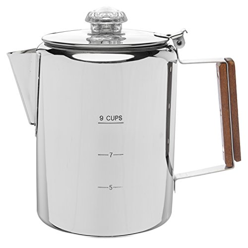Coletti'Bozeman' Percolator Coffee Pot - 9 CUP Stainless Steel