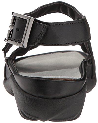 Naot Damen Schuhe Sandaletten Haki Echt-Leder Schwarz Combi 15428 Wechselfußbett