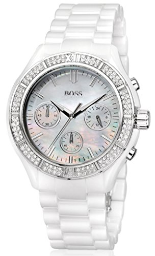 Hugo Boss 1502355 40mm Stainless Steel Case White Ceramic Mineral Women's Watch