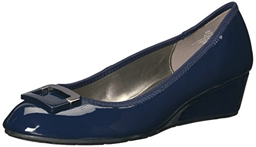 Bandolino Women's Tad Wedge Pump, Navy, 8.5 M US
