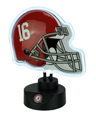 (The Memory Company University of Alabama Crimson Tide Football Helmet Neon Tabletop Sculpture)