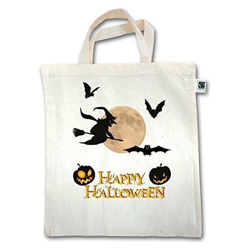 Halloween - Happy Halloween Moon Witch - Unisize - Natural - Xt500 - Manico Corto In Juta